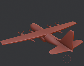 3D asset Lockheed C-130 Hercules US Military Transport