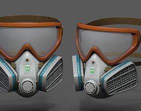 Gas mask helmet 3d model military combat fantasy animated