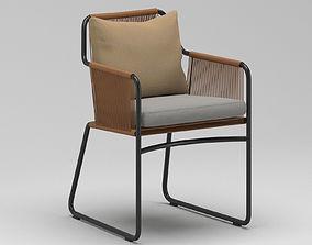 3D Outdoor terrace chair
