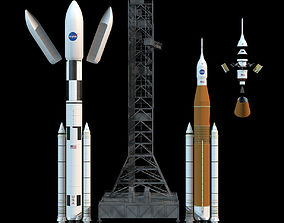 NASA SLS Space Launch System 3D