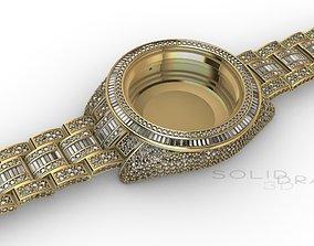 WATCH CROWNED DIAMONDS Sky 3D print model 41mm gold