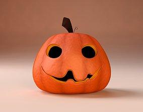 3D Cartoon Halloween Pumpkin