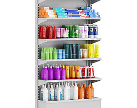 3D model Market Shelf Cosmetics