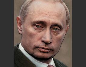3D printable model Putin Bas-Relief