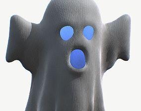 Cartoon Ghost 3D asset