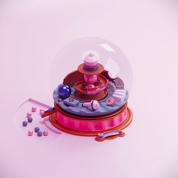Glass ball toy Low-poly