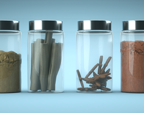 3D model Spices Jars