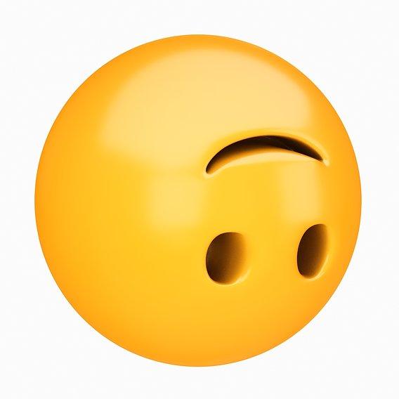 Emoji Upside-Down Face 3D model