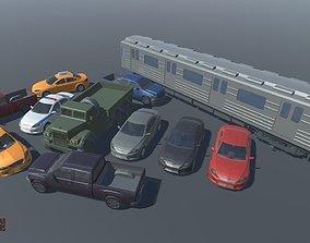 3D asset LOW POLY WORLD - STYLIZED CARS