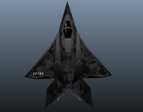 Stealth Fighter 3D asset