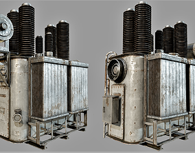 3D asset Old Rusty Transformer PBR