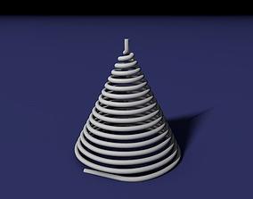 3D print model Spiral tree