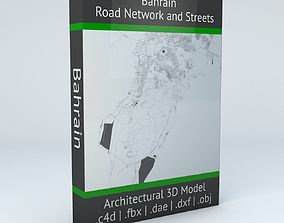 Bahrain Road Network and Streets 3D model