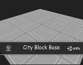 3D asset City Block Base