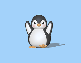 A cute Happy Penguin to decorate and play 3D print model