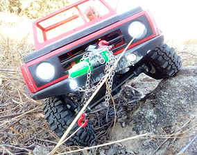 3D print model rc winch warn 1 10 for scale car