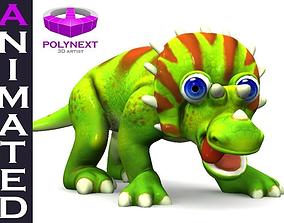 3D asset Cartoon Triceratops