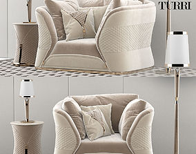 3D Turri Vogue armchair set