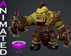 3D asset Orc Berserker