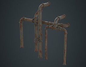 3D model Industrial Pipes 2C
