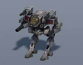 3D asset animated Spectre BattleMech