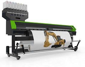 Digital Printer Paper and Fabric 3D model