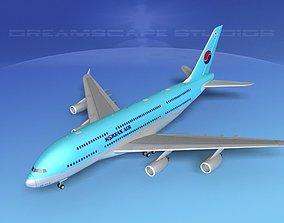 3D Airbus A380-800 Korean Air