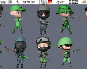 characters 2 03 military 3D asset