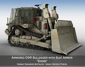 army Israeli Armored D9R Bulldozer 3D model