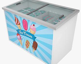 3D model Low Poly Ice Cream Freezer