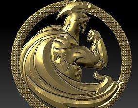 3D print model Spartan pendant 7