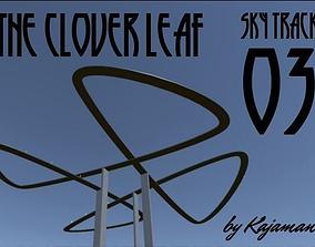 3D asset Sky Track The Clover Leaf
