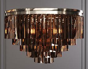 3D model RH 1920S ODEON SMOKE GLASS FRINGE 5-TIER 1