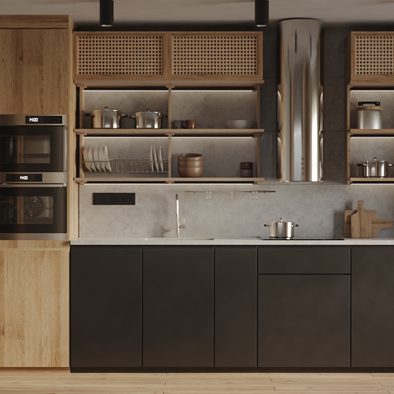 Nature kitchen interior