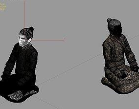 3D Model - Male Terracotta Warriors and Horses 01