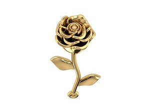 3D printable model rose gold pendant