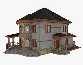 modern 3D model Stone House