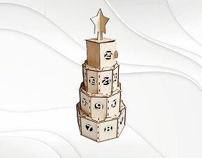 3D printable model Advent calendar vector template for 1
