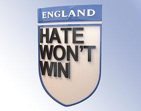 Hate Logo England Team 3D asset