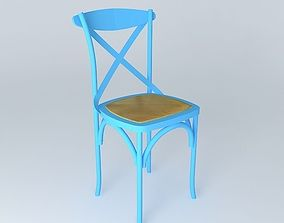 3D Blue chair TRADITION houses the world