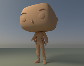 Custom Pop Girl Backpack No Hair DIY Figure 3D Print 1