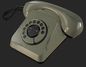 Retro Rotary Phone PBR 3D asset