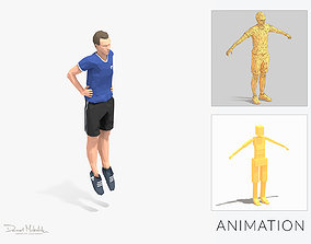 3D asset Frog Jump Exercise Man Animation