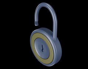 Round mechanical lock 3D model