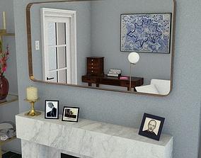 3D asset rectangular mirror