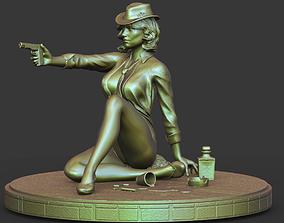 3D printable model Girl with a gun stl