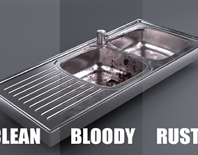 Metallic Sink 3D asset
