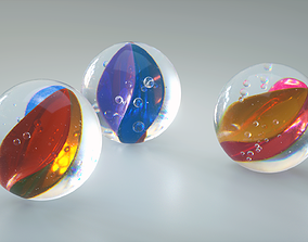 Marbles glass 3D