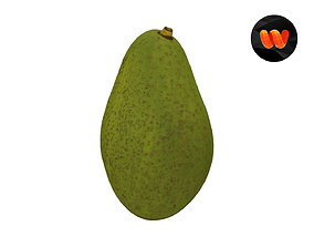 3D model Avocado - Extreme Definition Scanned