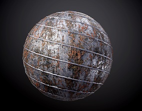 3D model Metal Rusty Damaged Pipe Seamless PBR Texture